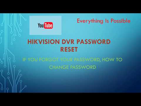 How To Reset Dvr Password