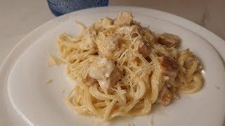 Спагетти с курицей в молочном соусе За уши не оттащишь Самая самая любимая пата