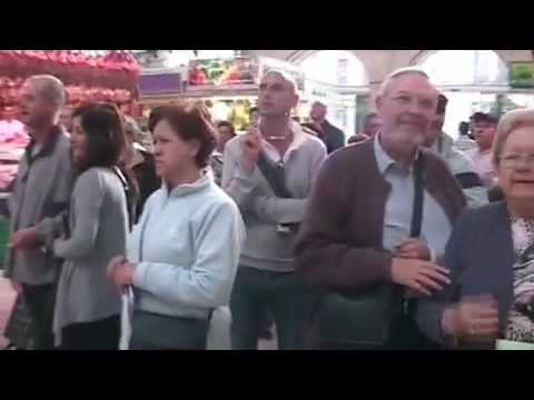Flashmob Valencia (Spain) : Opera at the market 2009