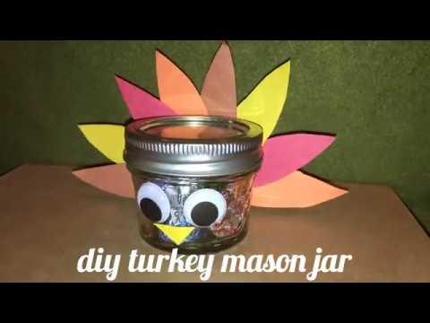 diy with me p2 turkey mason jar