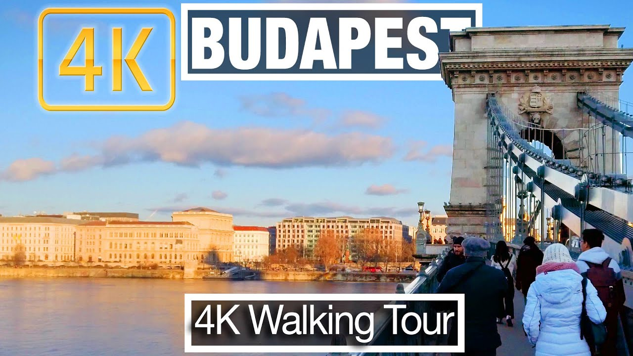 4K City Walks: Budapest, Along the Danube - Virtual Walk Treadmill Exercise Video and City Guide