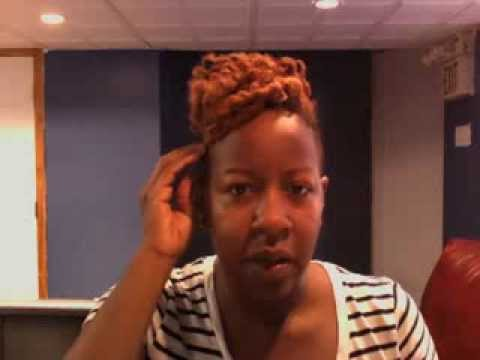 Natural Short Hair Shaved Sides With Flat Twist Out Youtube