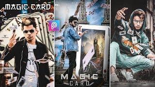 PicsArt Flying Cards Photo Editing Tutorial in picsart Step by Step in Hindi  - Taukeer Editz