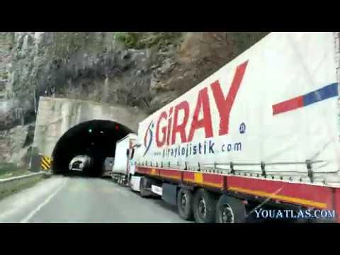 Пробка из фур на границе Турция-Грузия. Дороги Турции. Едем по тоннелям.