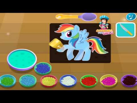 mein kleines pony m m torte rainbow dash kochen spiele f r. Black Bedroom Furniture Sets. Home Design Ideas