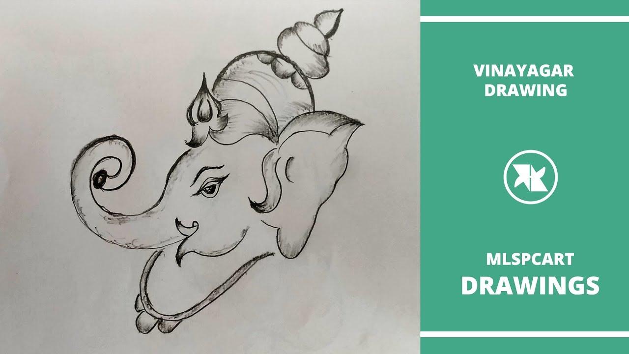 Vinayagar Chaturthi Drawing How To Draw Lord Ganesha Drawing Step By Step Vinayagar Drawing Youtube