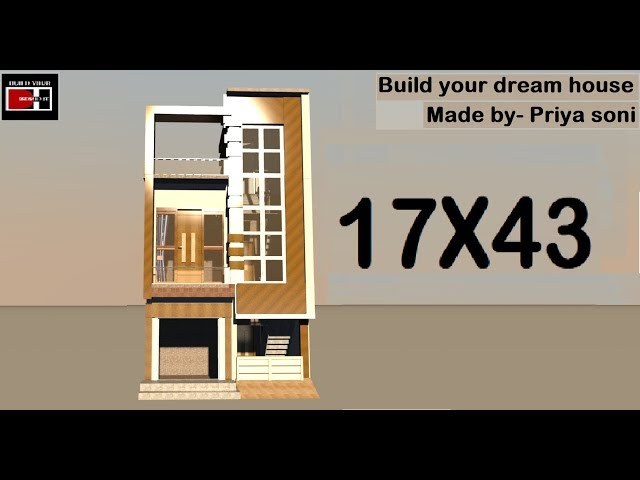 17X43 with shop and car parking made by priya soni on youtube channel build your dream house