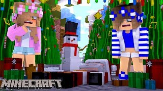 SANTA CRASHES HIS SLAY INTO MY CASTLE !  Minecraft Little Kelly