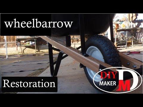 Restore old wheelbarrow