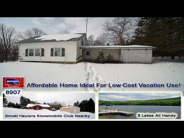 Cheap Homes For Sale In Maine   7 Webb RD Oakfield ME MOOERS REALTY #8907