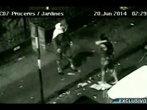 Cámara de seguridad captó la brutal agresión de policía a su pareja