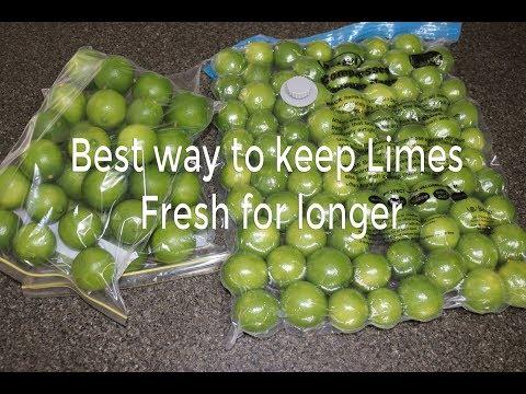 Keep Limes / Lemon fresh for longer - simple trick will keep lemons fresh in your fridge for months