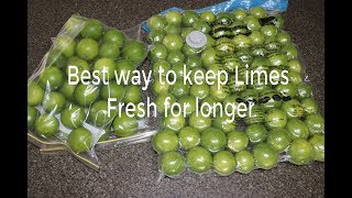 Keep Limes / Lemon fresh for longer - simple trick will keep lemons fresh in your fridge for months