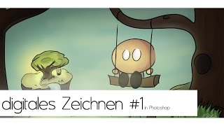 digitales Zeichnen lernen in Photoshop #1 Die Vorzeichnung    deutsch