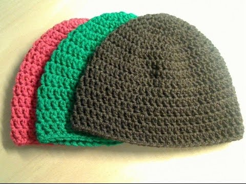 Crochet Beanie Tutorial (Adult Size) - YouTube 49582720efb