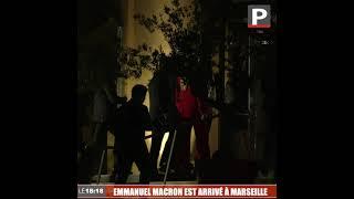 Emmanuel Macron à Marseille : le chef de l'État a débuté sa visite au Cloître (13e)