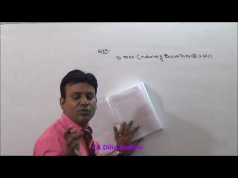 Central Excise Law : Valuation of Goods : Lecture 1