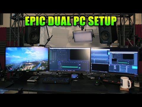 Epic Gaming PC Setup - New 4k Capture Card & Dual PC Streaming