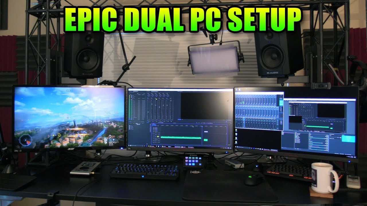 Epic Gaming Pc Setup New 4k Capture Card Amp Dual Pc
