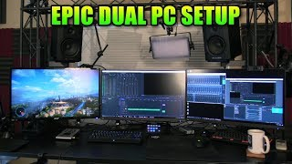 Epic Gaming PC Setup - New 4k Capture Card & Dual PC Streaming