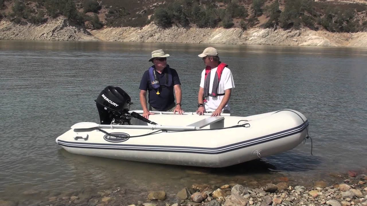 West Marine 275 310 Air Floor Inflatable Boats Youtube