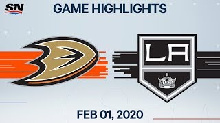 NHL Highlights | Anaheim Ducks vs. Los Angeles Kings - Feb. 1, 2020