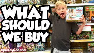 "SHOPPING SPREE ""What Should We Buy?"" NEW Teen Titans Go Batman Power Wheels LEGO by Epic Toy Channel"