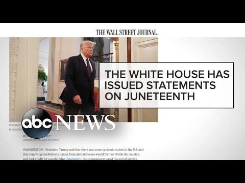 Backlash over Trump's Juneteenth comment, toddler video