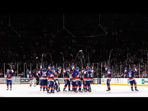 Islanders take the Nassau Coliseum ice to hero's welcome
