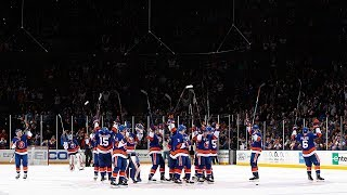 Islanders take the Nassau Coliseum ice to hero's welcome
