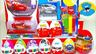 Unboxing Kinder Surprise Киндер Сюрпризы Дисней Тачки,Машинки ХотВилс,Angry Birds,Фиксики,Mcqueen