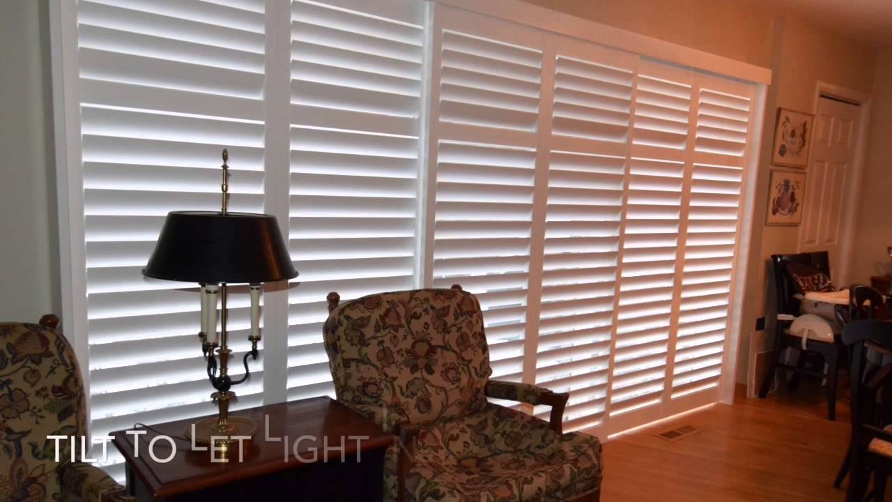 Transform Your Sliding Glass Patio Door With Shutters Youtube