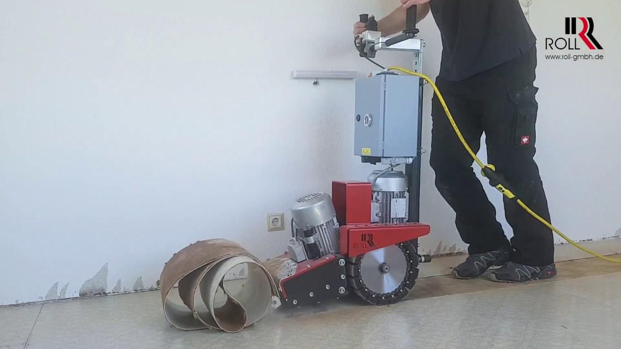Extrem Entfernen von PVC-Bodenbelag mit Kokosrücken mit dem ROLL-STRIPPER RX52