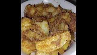 Таёжный Кавказкий рецепт от Семёна Картошка с тушёной говядиной луком и специями