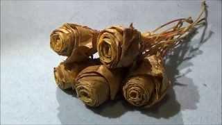как сделать розочки из листьев клена