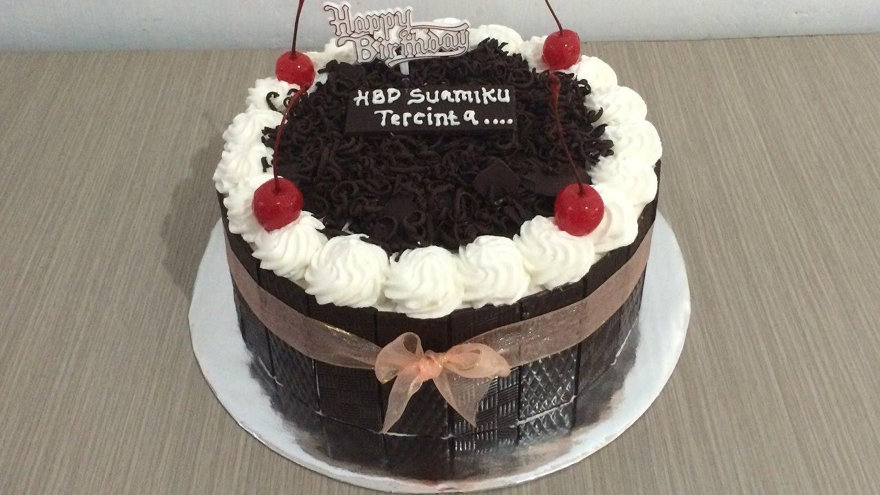 Cute Blackforest Cake Decorating How To Make Birthday Cake Youtube
