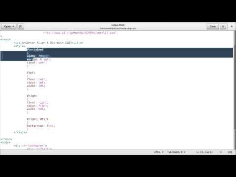 CSS - Center Align a Div Element
