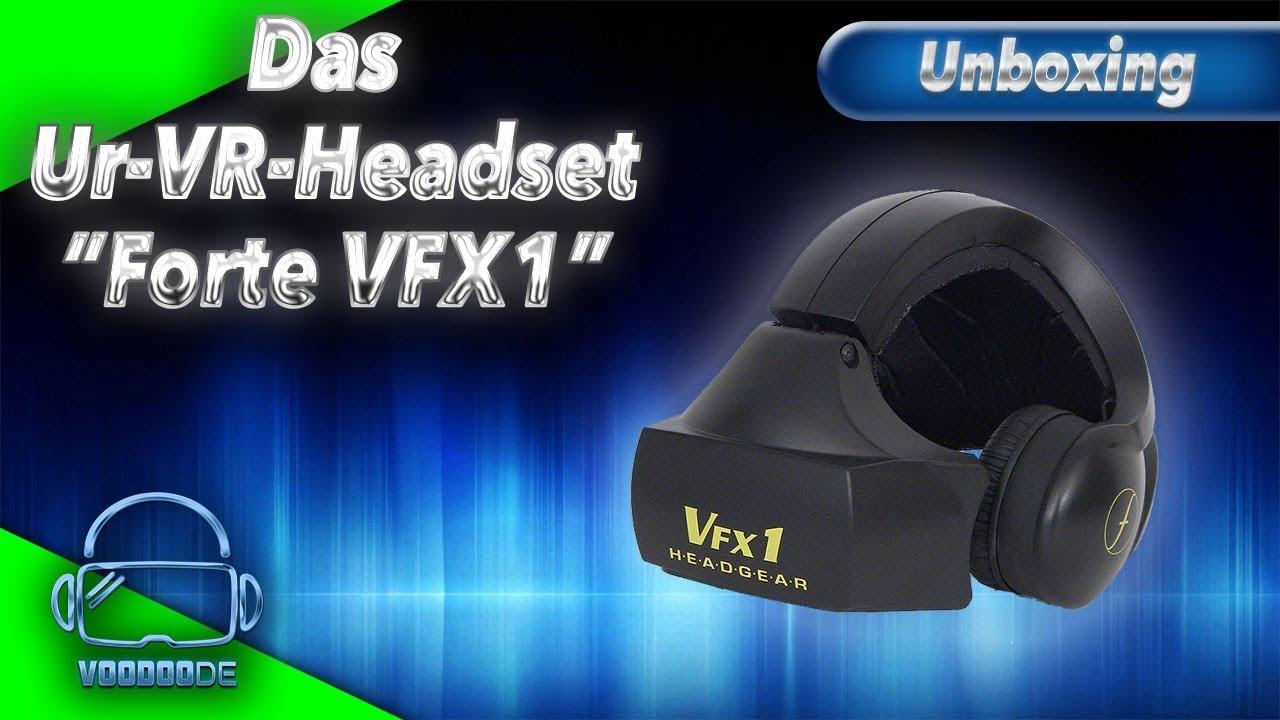 306345f471fe Das Ur-VR-Headset von 1994! Unboxing Forte VFX1 Headgear  German ...