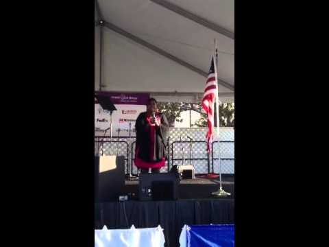 Cleo King sings National Anthem @ March Of DimesMarch For