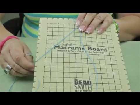 "How to use the Mini Macrame Board, 7.5"" x 10.5"""