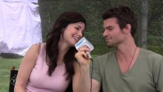 NBCUniversal Press Summer 2012 Erica Durance and Daniel Gillies