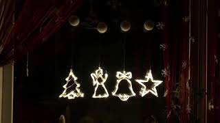 Новогодние светодиодные украшения на окно: купить Киев, Украина