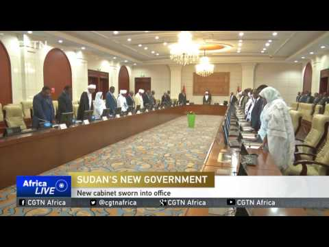 Sudan's new cabinet gets sworn into office