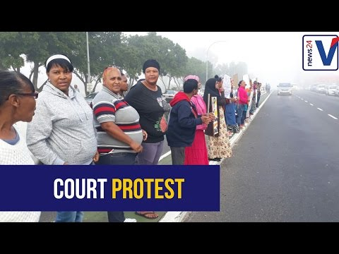 WATCH: Protests as Courtney's alleged killer appears in court