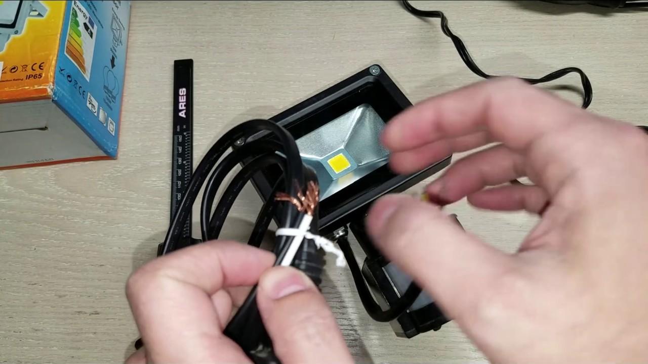 W-lite 10w Led Motion Sensor Flood Light