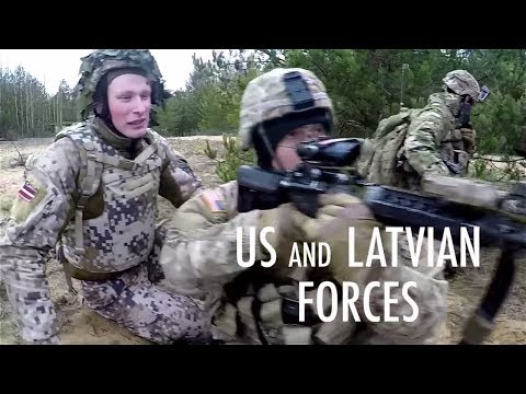 Latvian And US Troops Train Together