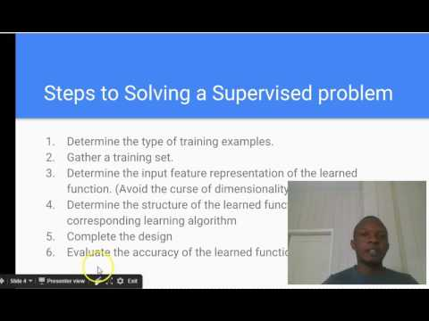 Machine Learning Tutorial   2   Supervised Learning Algorithms