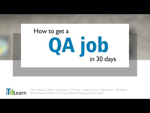 Get a QA/Software Testing job in 30 days. FREE Webinar by Karthik ITeLearn