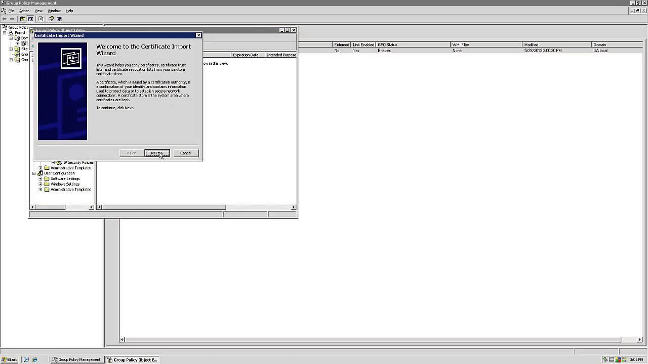 Windows 2003 ssl cert install with group policy manager youtube windows 2003 ssl cert install with group policy manager yadclub Gallery