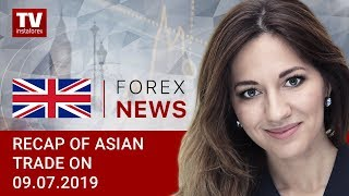 InstaForex tv news: 09.07.2019:Will USD lose steam after Powell's speech? (USDX, JPY, AUD)